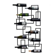 Buy Oenophilia Mid-Century Wall-Mount Hanging Metal Wine Rack Free Shipping