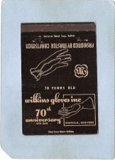Buy New York Mayfield Matchcover Royal Flash 70th Anniversary Wilkins Gloves I~1963