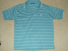 Buy Green and White Stripes Polo Sports Shirt Size Large