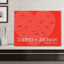 "Buy 18""x24"" Signature Canvas - Love for Ever - Free Personalization"