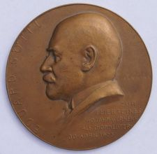 Buy 1925 Vienna Austria Edward Gottl 40th Anniversary as Chlormaster Medal - 60MM