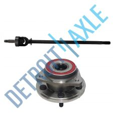 Buy NEW Front Right CV Drive Axle shaft U-Joint and Wheel Hub Bearing Assembly - 4WD