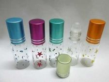 Buy 25 Empty Aroma Essential Oil Glass Bottle Roll On Travel Perfume Cologne 5 ml
