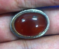 Buy RARE VTG RING RED NATURAL AGATE STONE ANTIQUE OVAL TURKISH VINTAGE SIZE 9 HOT