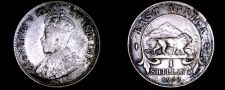 Buy 1922-H East African Shilling World Silver Coin - British Admin East Africa Lion