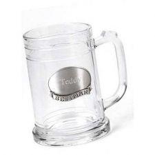 Buy Glass Mug w/ Pewter Medallion - Free Personalization