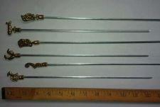 Buy Ornate Skewer SET / Vintage COLLECTABLES- Animals BRASS/STEEL