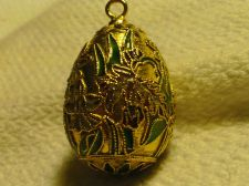 "Buy ORNATE Vintage ""Golden"" Egg/ Pendant or Ornamental-**Beautiful Collectable**"