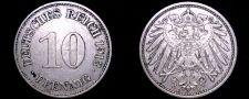 Buy 1913 E German 10 Pfennig World Coin - Germany