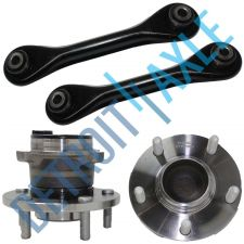 Buy 4 pc Set NEW 2 Rear Wheel Hub and Bearing 2 Lower Trailing Control Arm w/ ABS