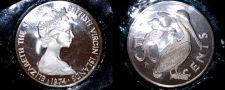 Buy 1974 British Virgin Islands 50 Cent Proof World Coin