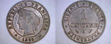 Buy 1895-A French 1 Centime World Coin - France