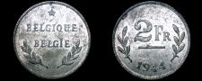 Buy 1944 Allied Occupied Belgian 2 Franc World Coin - Belgium