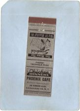 Buy New York Lackawanna Matchcover Phoenix Cafe 30 Simon Ave w/Low Phone Numbe~2392