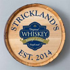 Buy Whiskey Barrel Sign - 6 Designs - Free Personalization