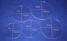"Buy 5 Piece Circle Set 4"",4,5"", 5"", 5.5"", 6"" 1/8"" Acrylic - Quilting Templates"