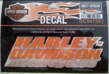 "Buy Harley-Davidson Motorcycles Orange Text Hologram Design Decal 5 1/2"" NEW -USA"