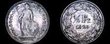 Buy 1920-B Swiss Half Franc World Silver Coin - Switzerland