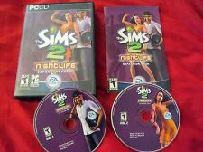 Buy THE SIMS 2 NIGHT LIFE PC DISCS MANUAL CASE & ART NEAR MINT HAS CODE