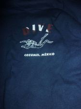 Buy Cozumel Blue Graphic Printed T-Shirt Mens Size Large