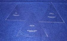 "Buy Quilt Templates- 3 Piece Equilateral Triangle Set 3"",3.75"",4.5"" - Acrylic 1/8"""