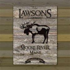 "Buy Weathered Wood Lakehouse 18""x24"" Canvas - Free Personalization"