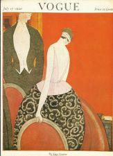 Buy Vogue 1920 Cover Print Lady Man Suit by Lepape Art Deco 1984 original print