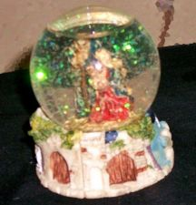 Buy Snow globe with Sparkling snow & religious figurines