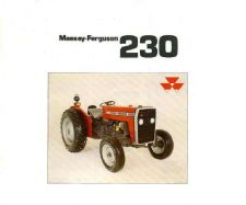 Buy MASSEY FERGUSON MF230 TRACTOR PARTS MANUAL 130pgs w/ MF 230 Repair Diagrams