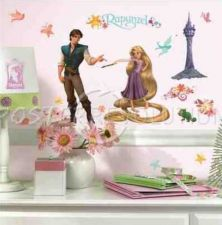 Buy Disney's TANGLED Peel & Stick Wall Decals - RAPUNZEL - NEW - 46 Decals