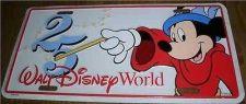 Buy Disney Walt Disney World Mickey Sorcerer 25 years License Plate