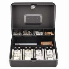 Buy 5 Compartment Tiered Cantilever Cash Drawers Coin Lock Box Money Organizer Safe