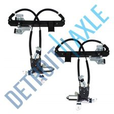 Buy Pair of 2 NEW Rear Driver and Passenger Power Window Regulator Assembly w/ Motor