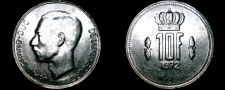 Buy 1972 Luxembourg 10 Franc World Coin