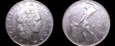 Buy 1955 Italian 50 Lire World Coin - Italy