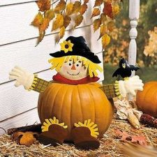 Buy Fall SCARECROW PUMPKIN Poke In Head And Legs CUTE Halloween Holiday Decor Outdoo
