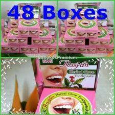 Buy 48x Rasyan Herbal Clove Toothpaste Anti Bad Breath Whitening Free Ship+Tracking