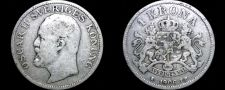 Buy 1906 Sweden 1 Kronor Krona World Silver Coin
