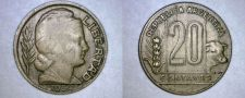 Buy 1950 Argentina 20 Centavo World Coin