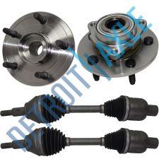 Buy 2 NEW Front Wheel Hub Bearing Assembly + 2 CV Axle Shafts w/ Rear-Wheel ABS 4WD