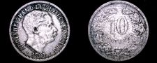Buy 1901 Luxembourg 10 Centimes World Coin