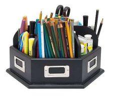 Buy Wood Desk Carousel Studio Designs Pen Pencil Storage Tools Organizer Office Home