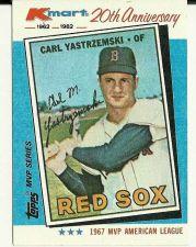 Buy Carl Yastrzemski 1982 Kmart 20th Anniversary Card - Topps MVP Series