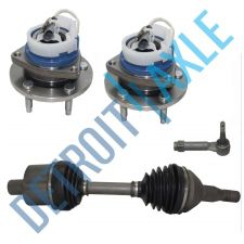 Buy 4 pc Set: Front Left CV Axle Shaft + Outer Tie Rod + 2 Wheel Hub Bearing w/ ABS