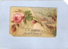 Buy New York Amsterdam Victorian Trade Card J. T. Pierson, Market Street~59