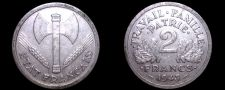 Buy 1943 French 2 Franc World Coin - France