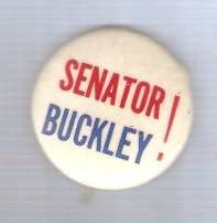 Buy New York Senator Candidate: Buckley Political Campaign Button~2