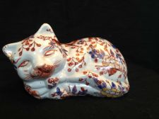Buy Antique Japanese Imari Porcelain Cat Marked with original marks