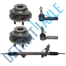 Buy Power Steering Rack and Pinion + 2 Wheel Hub Bearing no ABS + 2 Tie Rod; 4WD