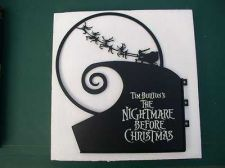 Buy Tim Burton Nightmare Before Christmas Jack Santa Metal Sign Set Out to Slay